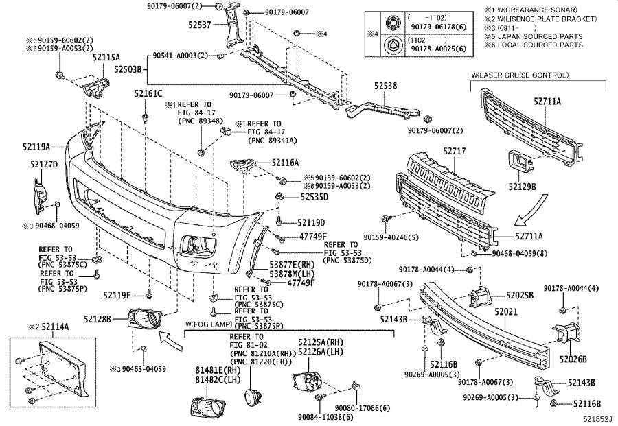 Diagram FRONT BUMPER & BUMPER STAY for your 1986 Toyota Camry