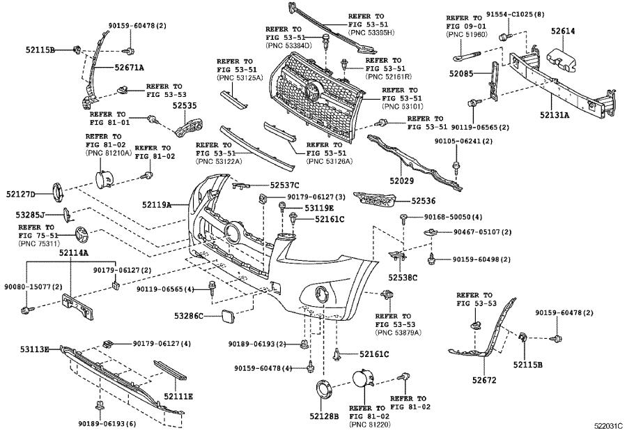 Diagram FRONT BUMPER & BUMPER STAY for your 1986 Toyota 4Runner
