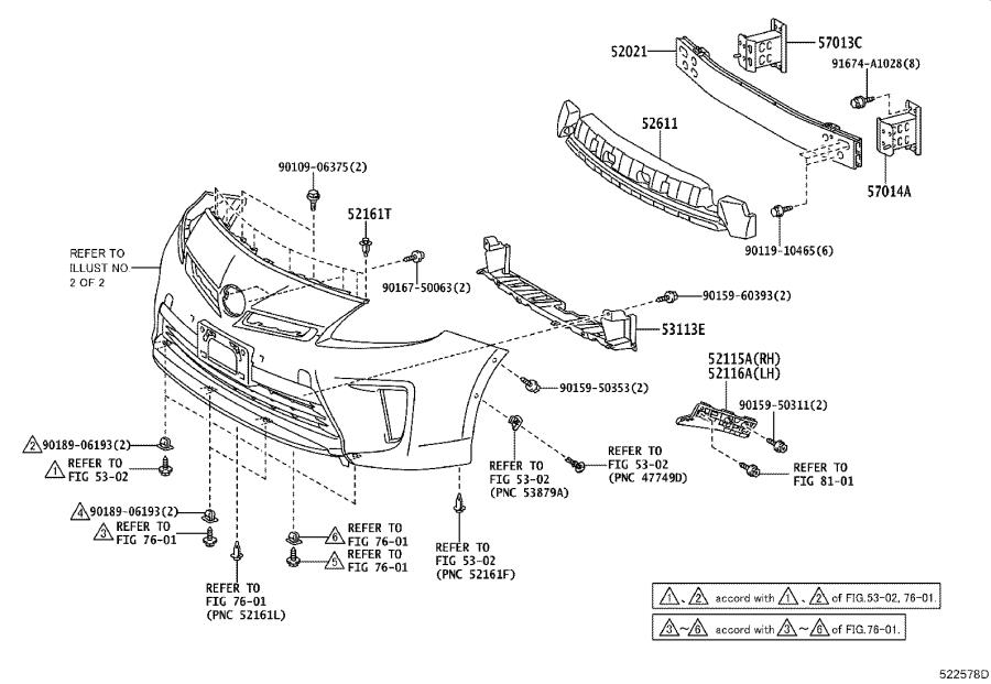 Diagram FRONT BUMPER & BUMPER STAY for your 1984 Toyota Corolla