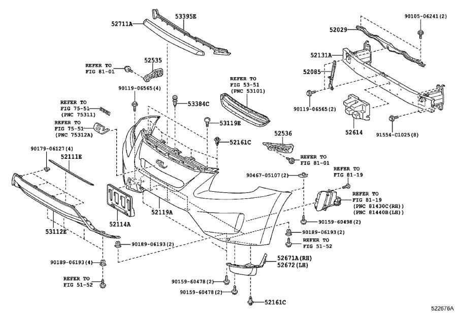 Diagram FRONT BUMPER & BUMPER STAY for your 2013 Toyota RAV4