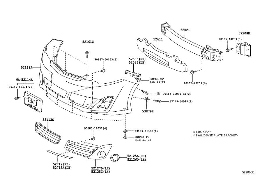 2016 Toyota Camry Cover  Front Bumper