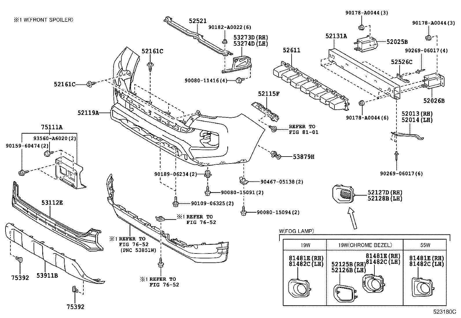 Diagram FRONT BUMPER & BUMPER STAY for your 2001 Toyota Tundra