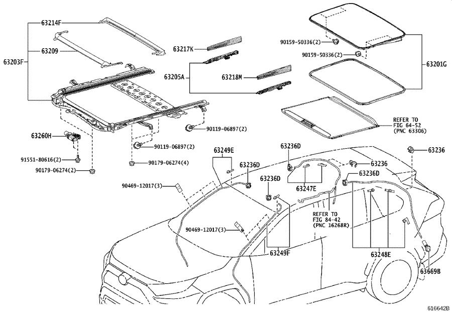 Diagram ROOF PANEL & BACK PANEL for your 2002 Toyota RAV4