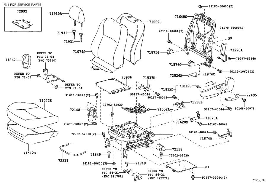 Diagram FRONT SEAT & SEAT TRACK for your 2004 Toyota RAV4