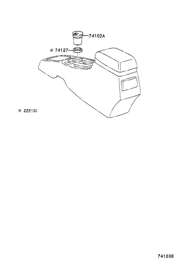 Diagram ASH RECEPTACLE for your 1993 Toyota Camry