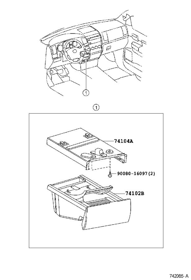Diagram ASH RECEPTACLE for your 2010 Toyota Tundra