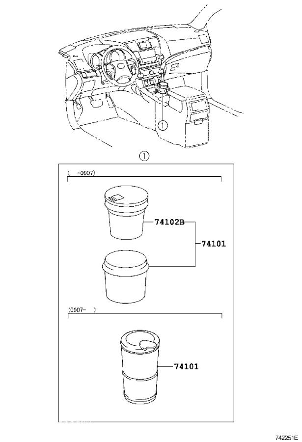 Diagram ASH RECEPTACLE for your 1997 Toyota Camry