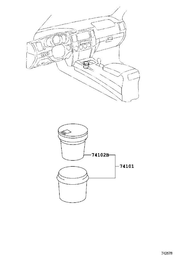 Diagram ASH RECEPTACLE for your 2020 Toyota 4Runner