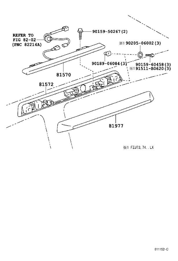 Diagram CENTER STOP LAMP for your 2001 Toyota Avalon