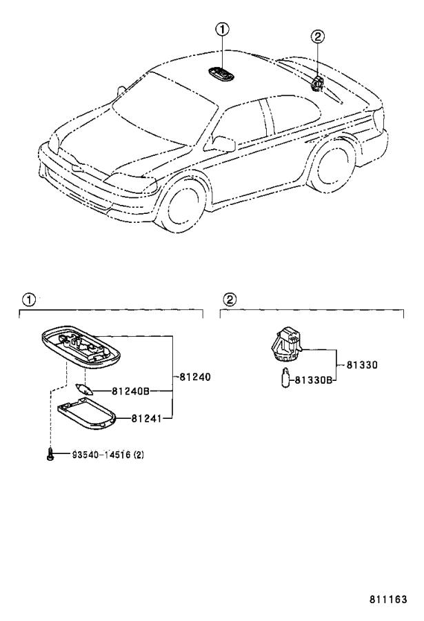 Diagram INTERIOR LAMP for your 2002 Toyota Echo