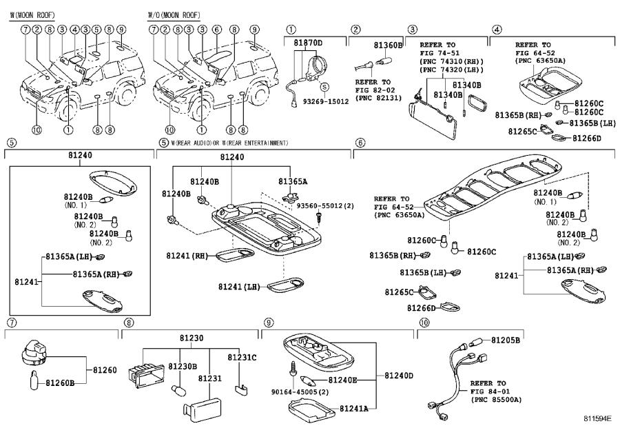 Diagram INTERIOR LAMP for your 2007 Toyota Sequoia