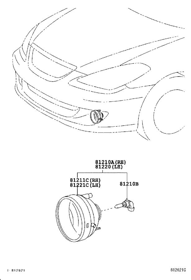 Diagram FOG LAMP for your 2015 Toyota Corolla