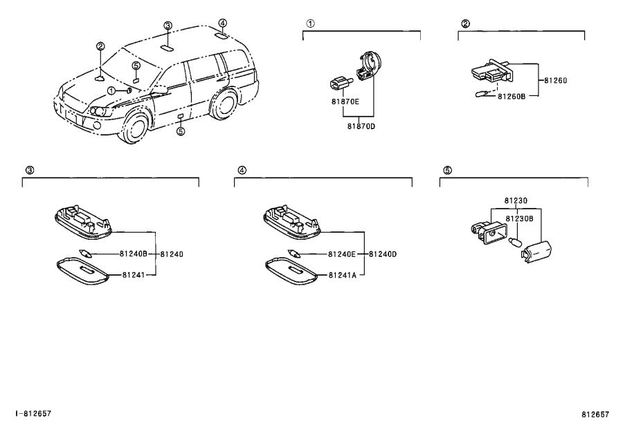 Diagram INTERIOR LAMP for your Toyota Highlander