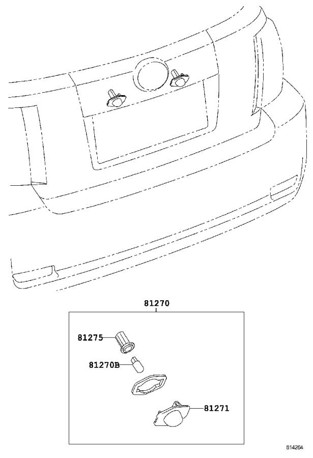 Diagram REAR LICENSE PLATE LAMP for your 2007 Toyota Tundra