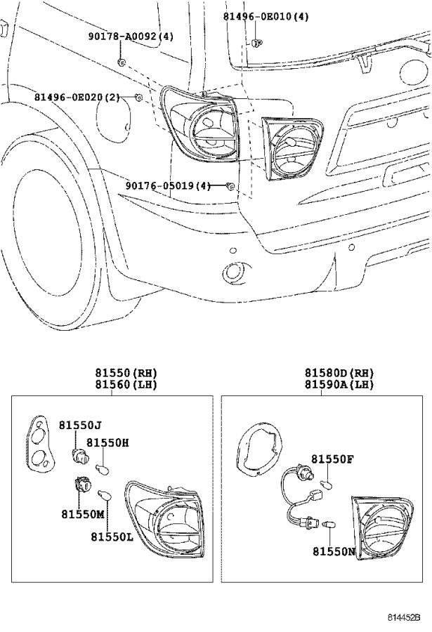 Diagram REAR COMBINATION LAMP for your Toyota Sequoia