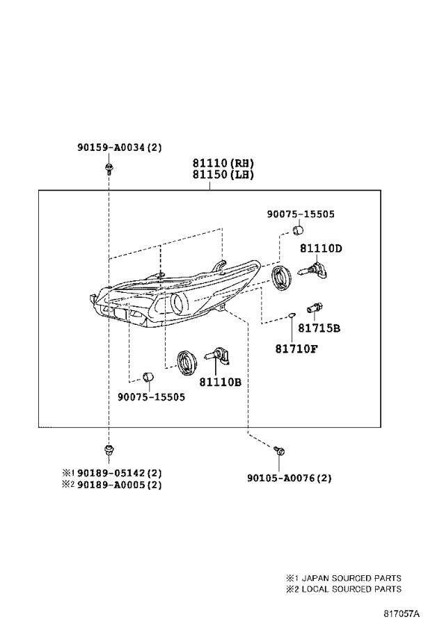 Diagram HEADLAMP for your Toyota Camry