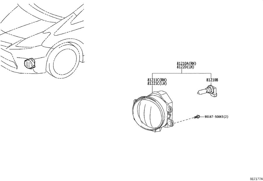 Diagram FOG LAMP for your 2009 Toyota Camry