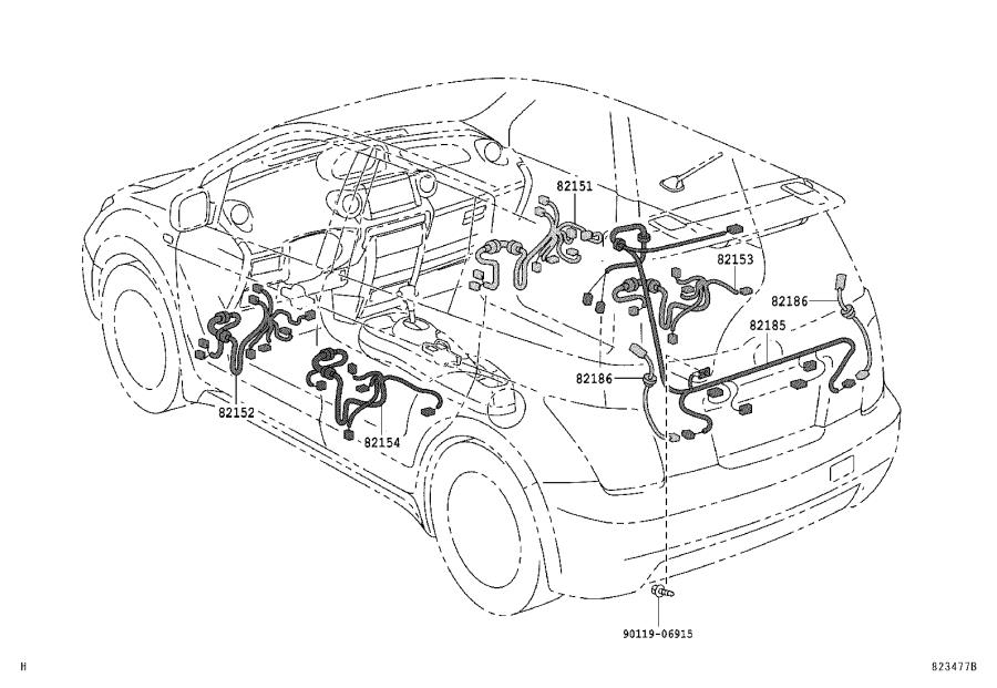 Diagram WIRING & CLAMP for your 1984 Toyota 4Runner