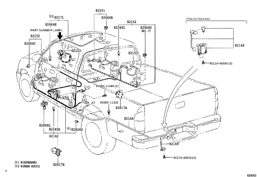 Diagram WIRING & CLAMP for your 2005 Toyota Corolla