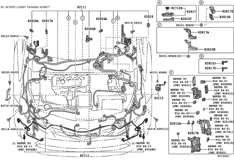 2015 toyota prius v connector  wiring harness  headlamp