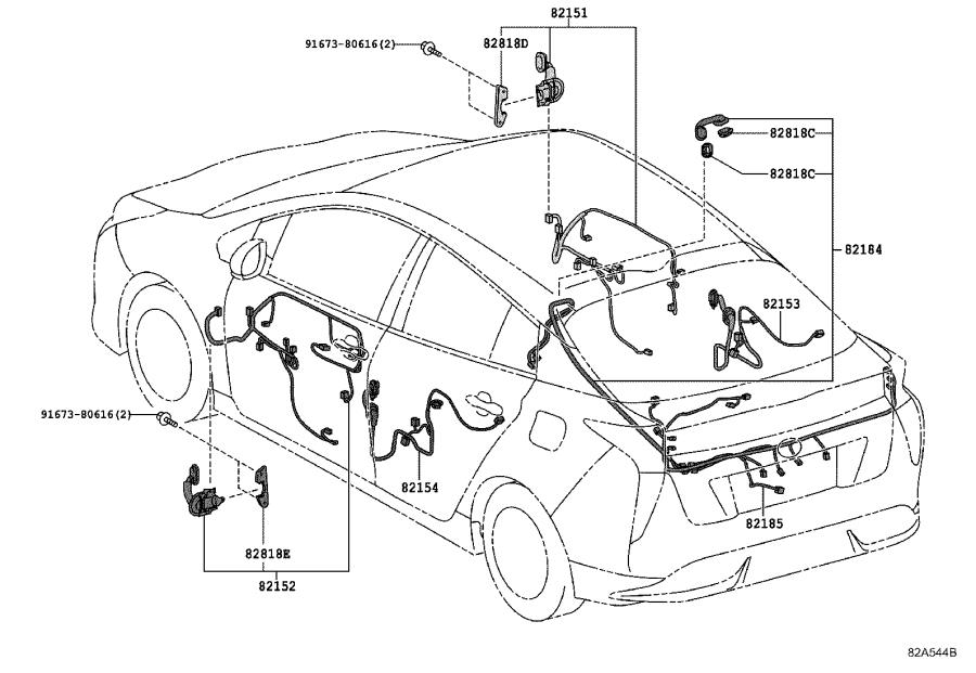 2017 Toyota Prius Connector  Cover  Connector  Wiring