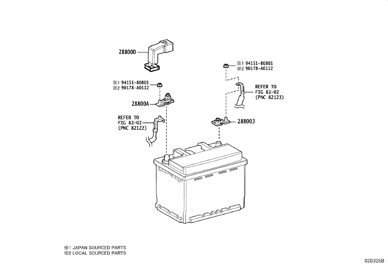 Toyota Camry Label  Lithium Ion Battery Caution  Spec
