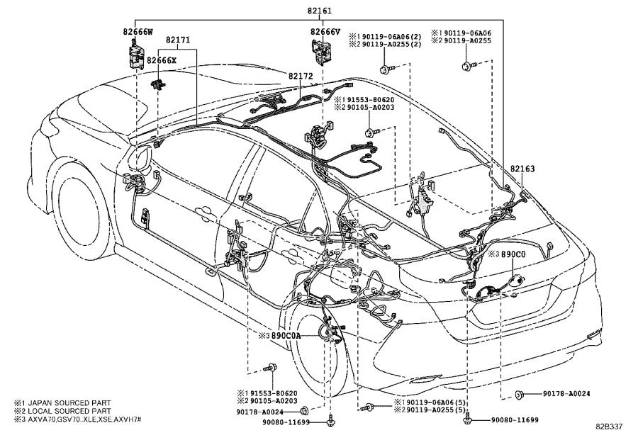 2018 Toyota Camry Cover  Connector  Wiring  Electrical  Clamp - 8282133690