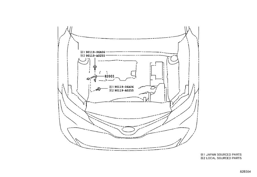 2018 toyota camry cover  connector  wiring  electrical