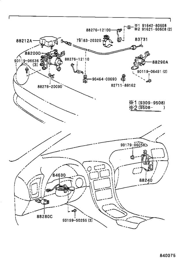 Diagram CRUISE CONTROL (AUTO DRIVE) for your 1988 Toyota 4Runner
