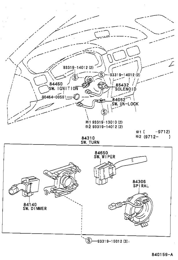 Diagram SWITCH & RELAY & COMPUTER for your 1996 Toyota