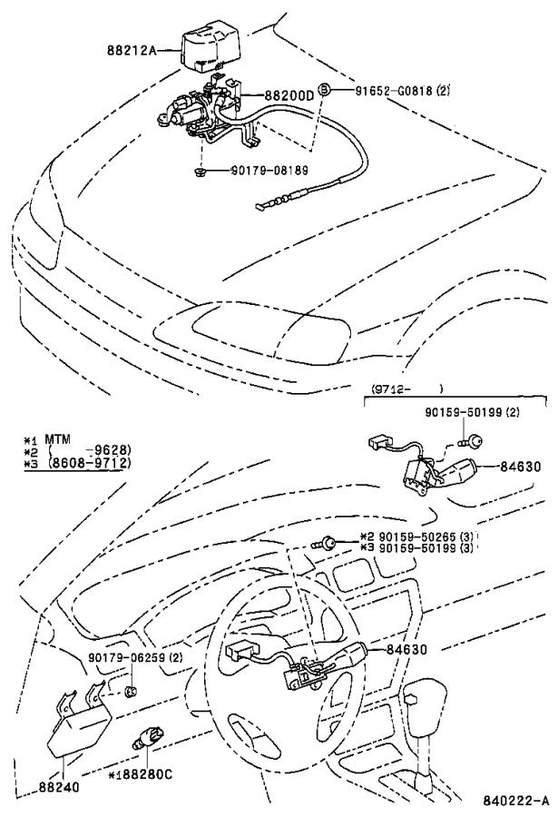 Diagram CRUISE CONTROL (AUTO DRIVE) for your 1996 Toyota Paseo