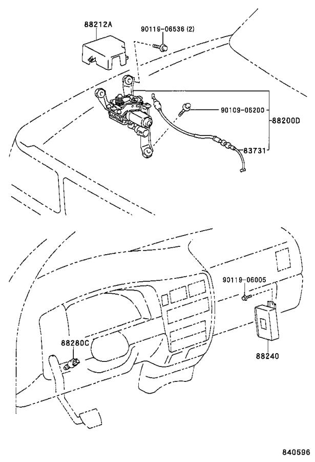 Diagram CRUISE CONTROL (AUTO DRIVE) for your 2002 Toyota Tacoma
