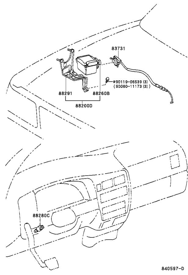 Diagram CRUISE CONTROL (AUTO DRIVE) for your 1996 Toyota