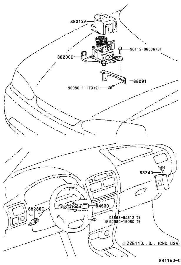 Diagram CRUISE CONTROL (AUTO DRIVE) for your 2002 Toyota Corolla
