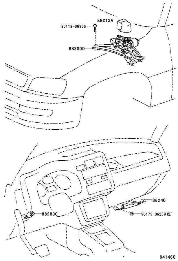 Diagram CRUISE CONTROL (AUTO DRIVE) for your 1999 Toyota RAV4
