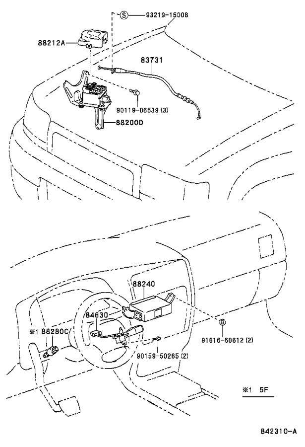 Diagram CRUISE CONTROL (AUTO DRIVE) for your Toyota 4Runner
