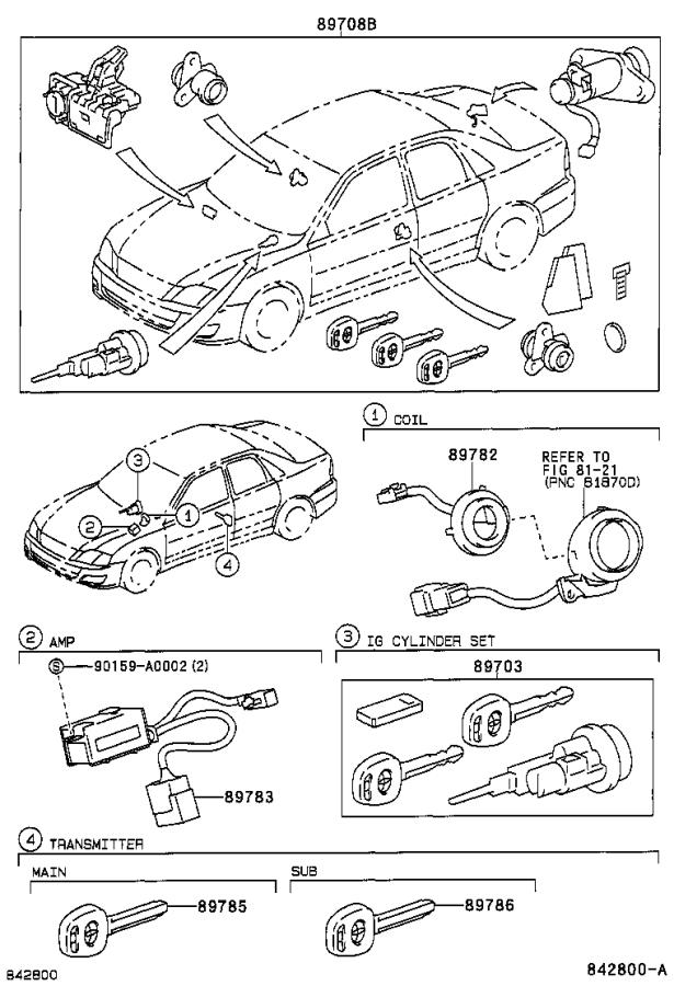Diagram ANTI-THEFT DEVICE for your 2001 Toyota Avalon