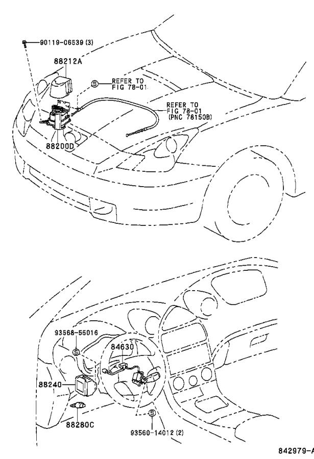 Diagram CRUISE CONTROL (AUTO DRIVE) for your 2000 Toyota Celica