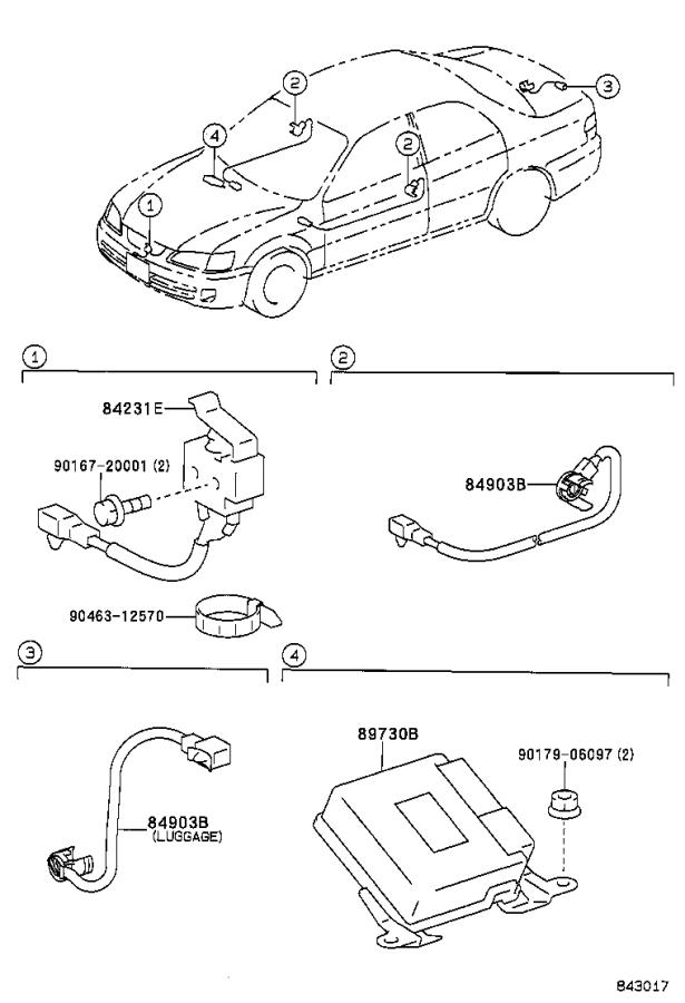 Diagram ANTI-THEFT DEVICE for your 2000 Toyota Camry