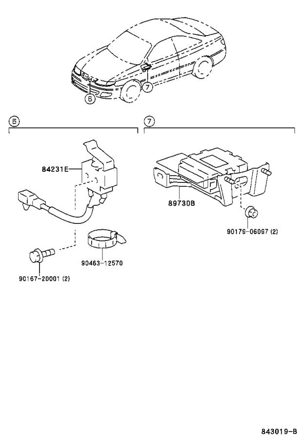 Diagram ANTI-THEFT DEVICE for your 1992 Toyota T100