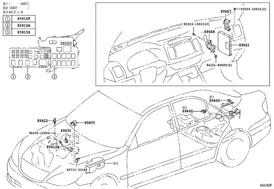 Diagram ELECTRONIC FUEL INJECTION SYSTEM for your 2005 Toyota Camry