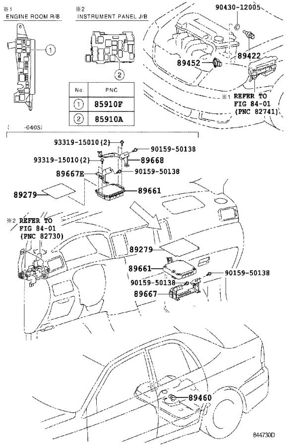 Diagram ELECTRONIC FUEL INJECTION SYSTEM for your 2003 Toyota Corolla