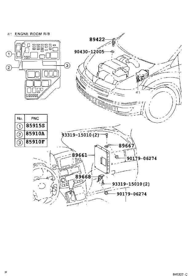 Diagram ELECTRONIC FUEL INJECTION SYSTEM for your 2007 Toyota Sienna