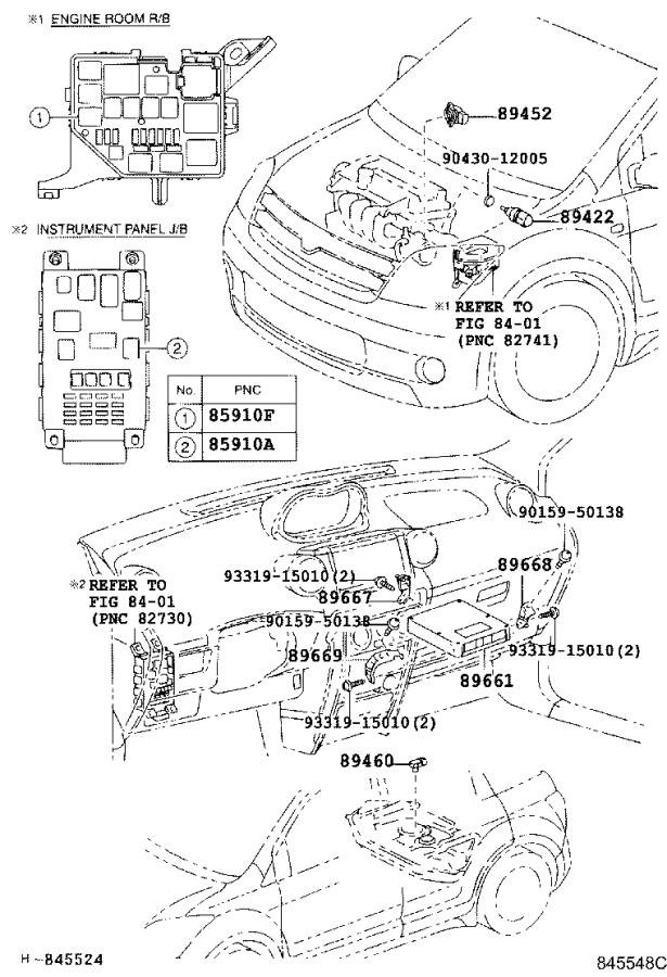 Diagram ELECTRONIC FUEL INJECTION SYSTEM for your 2005 Scion XA