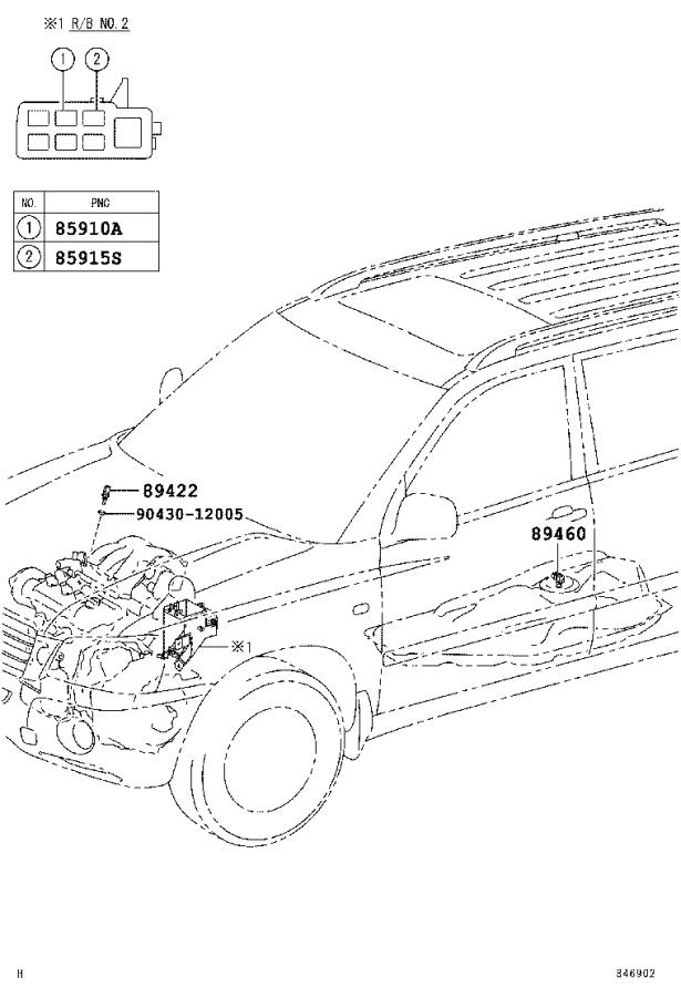 Diagram ELECTRONIC FUEL INJECTION SYSTEM for your 2007 Toyota Highlander