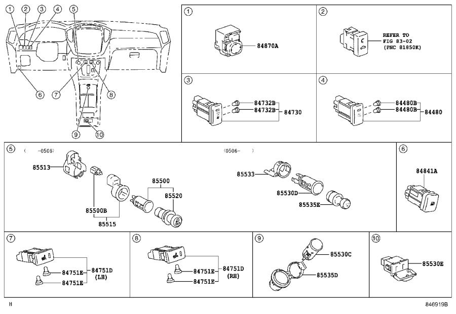 Diagram SWITCH & RELAY & COMPUTER for your 1998 Toyota Camry