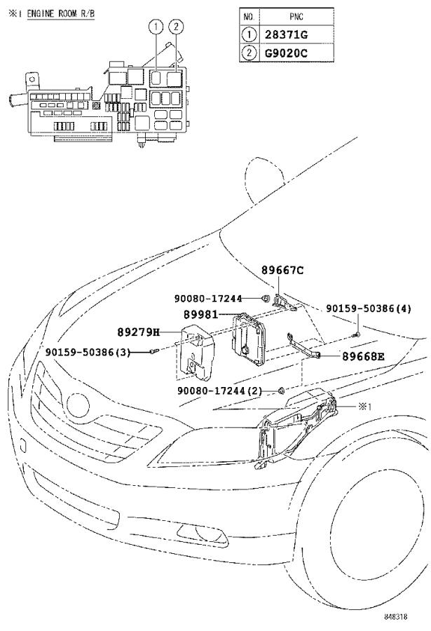 Diagram HV CONTROL COMPUTER for your 2009 Toyota Camry
