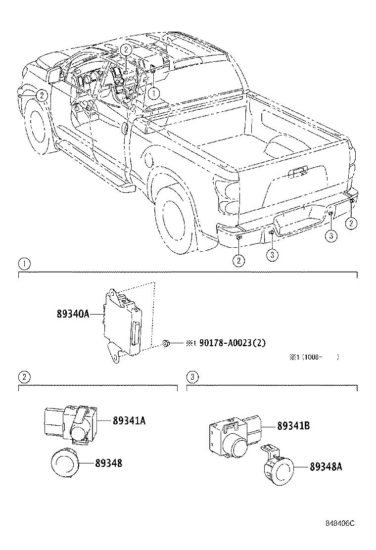 Diagram CLEARANCE & BACK SONAR for your 2012 Toyota Tundra Double Cab Limited
