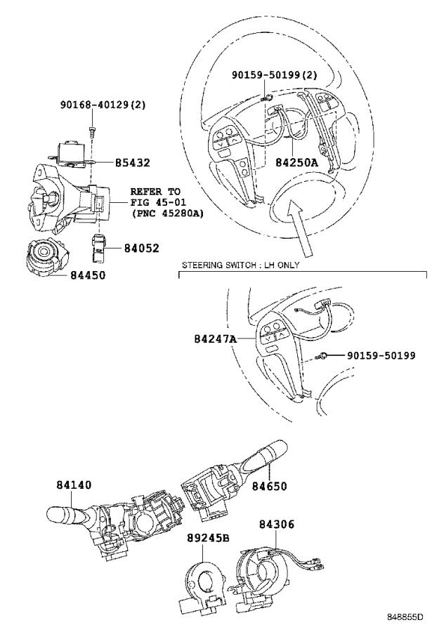Diagram SWITCH & RELAY & COMPUTER for your 1998 Toyota T100