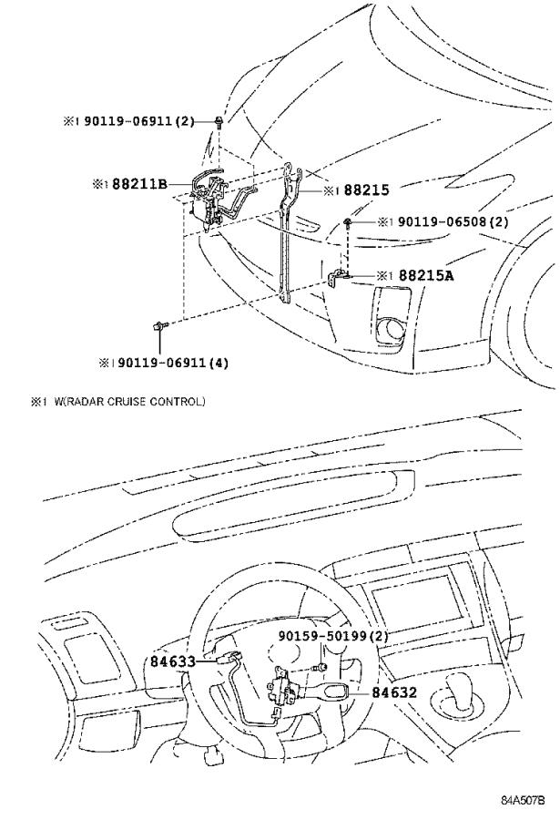 Diagram CRUISE CONTROL (AUTO DRIVE) for your 1998 Toyota T100
